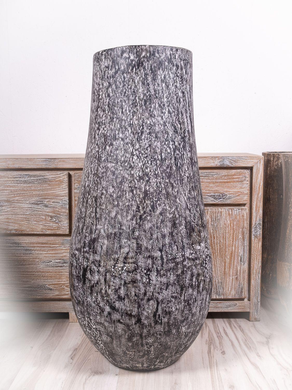 Váza kokosová palma s řezbou 120 cm, Indonésie - ID1601902