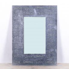 Zrcadlo s dřevěným dekorativním rámem, ruční práce - ID1703317