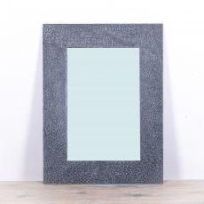 Zrcadlo s dřevěným dekorativním rámem, ruční práce - ID1703316