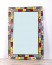 Zrcadlo s dřevěným vyřezávaným rámem 120 x 80 cm, ruční práce - ID155-002