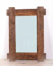 Zrcadlo s rámem z recyklovaného dřeva 108 x 78 cm, ruční práce  ID1607801B