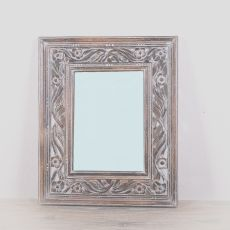 Zrcadlo s rámem z masivního dřeva 60 x 50 cm, ruční práce  - ID1601704