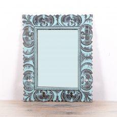 Zrcadlo s rámem z recyklovaného dřeva 60 x 48 cm, ruční práce  - ID1602702