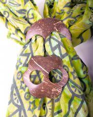 Kokosová spona na vázání plážových šátků (sarongů)  IS0040-006
