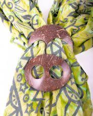 Kokosová spona na vázání plážových šátků (sarongů)  IS0040-007