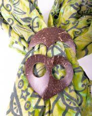 Kokosová spona na vázání plážových šátků (sarongů)  IS0040-008