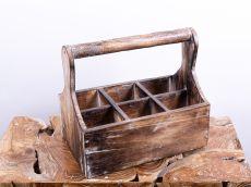 Přepravka - stojan na víno, dřevěná dekorace - ID1607202