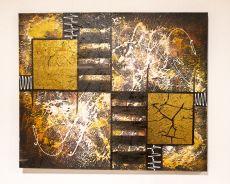 Ručně malovaný obraz na dřevěném rámu 120 x 100 cm  ID17252009