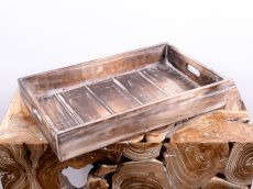 Tác (podnos, přepravka) ze dřeva albesia  - ID1607205