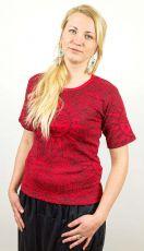 Dámské tričko PRINTY, ruční potisk Nepál