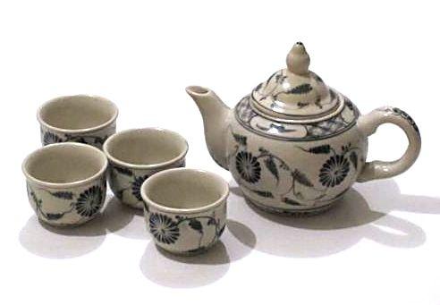Dekorační čajová souprava malovaná