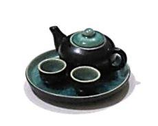Keramická čajová minisouprava