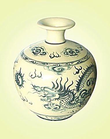 Keramická váza malovaná 33 cm