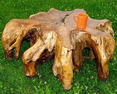 Konferenční stůl z jednoho kusu teakového dřeva