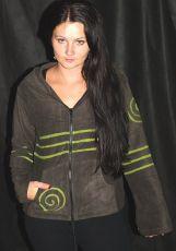 Mikina fleesová s kapucí