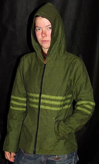 Plátěná bunda s kapucí, fleesová podšívka NT0013 001