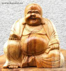 Soška Veselý Buddha (Happy Buddha) 15 cm natural Indonésie