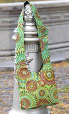 Taška přes rameno BABA, barevný potisk s výšivkami, Nepál