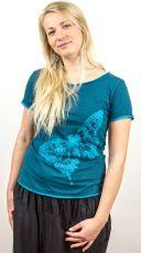 Tričko CANDY BUTTERFLY, ruční tisk, Nepál