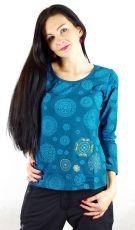 Tričko CIRCLE bavlna, manufakturní potisk s výšivkou Nepál