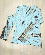 Tričko dámské dlouhý rukáv batika