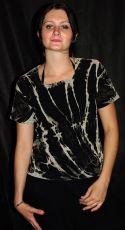 Tričko dámské krátký rukáv batika