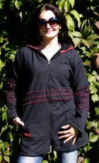 Bavlněný kabátek s fleesovou podšívkou velikost L