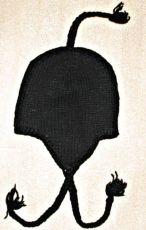 Čepice ušanka 100 % vlna s fleesovou podšívkou