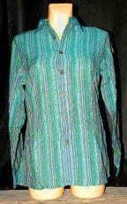 Dámská košile s dlouhým rukávem proužky velikost L