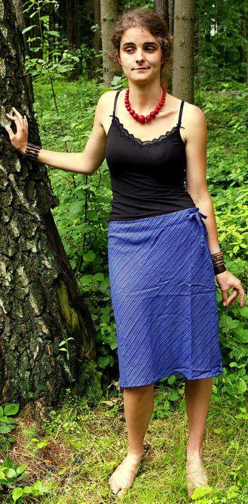 Letní sukně proužky NT0056 008 KENAVI