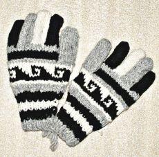 Prstové rukavice, vlna 100%