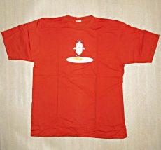Tričko pánské s atraktivním potiskem velikost L - oranžové