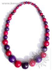 Dřevěný náhrdelník RETRO