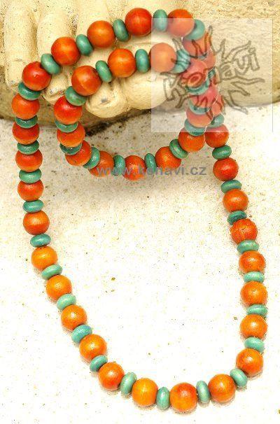 Korálky dřevěné s náramkem IS0041 01 010