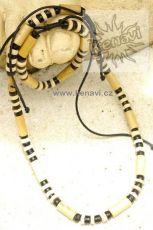 Korálky dřevěné s náramkem - na šňůrce