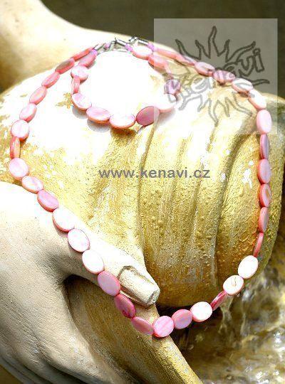 Perleťový náhrdelník s náramkem IS0045 01 001