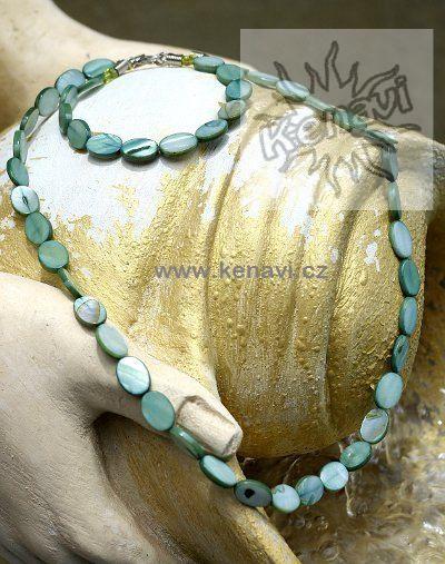 Perleťový náhrdelník s náramkem IS0045 01 002
