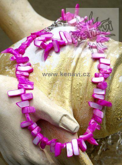 Perleťový náhrdelník s náramkem
