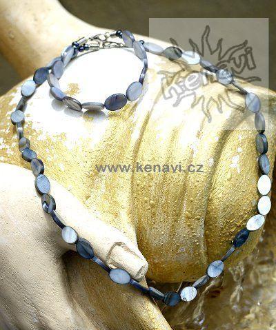 Perleťový náhrdelník s náramkem IS0045 01 004