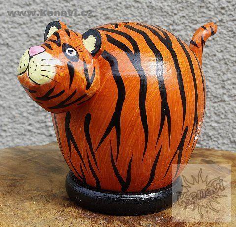 Pokladnička tygr - větší verze