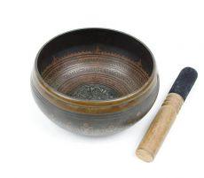 Tibetská mísa 17 cm s paličkou Nepál