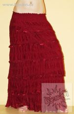 Volánová sukně se saténovými lemy