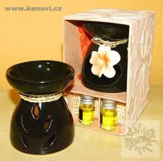 Aromalampa s esencemi dárkový set - pomeranč + vanilka