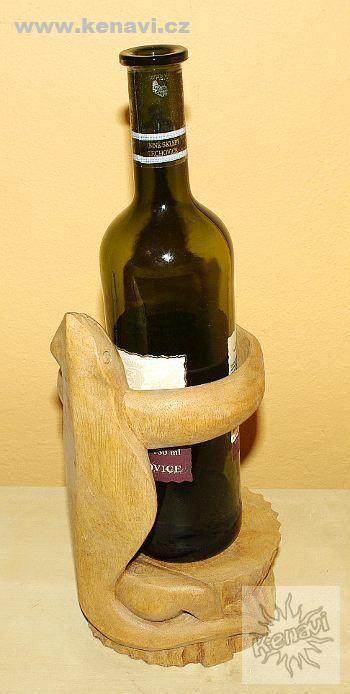 Dekorativní stojan na lahve na víno JEŠTĚRKA