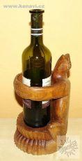 Dekorativní stojan na lahve na víno ŽÁBA
