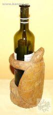 Dekorativní stojan na lahve na víno ŽELVA