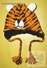 Dětská čepice zvířátková - vlna, fleesová podšívka