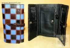 Kožená peněženka patchwork