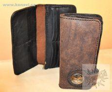 Kožená peněženka patinovaná
