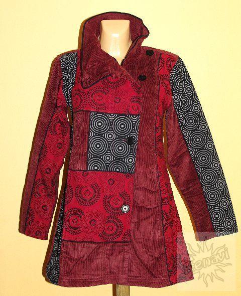Manchesterový kabátek COLETTE s kanvasovými potisky